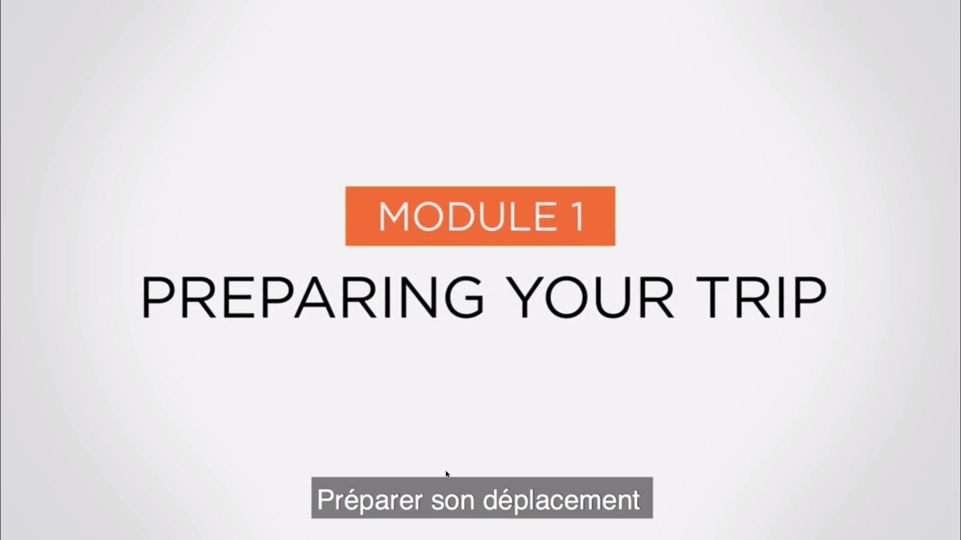 Module 1 - Preparing your trip