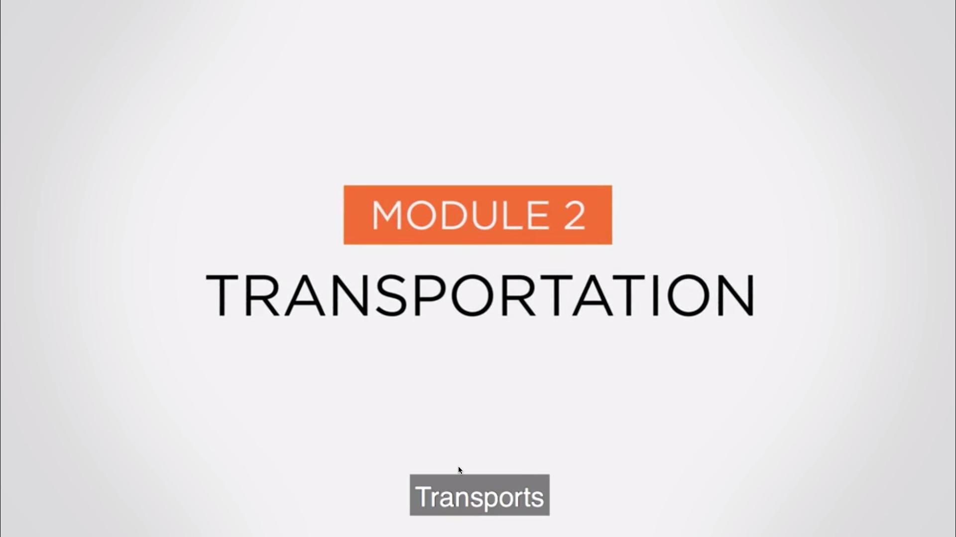 Module 2 - Transportation-1