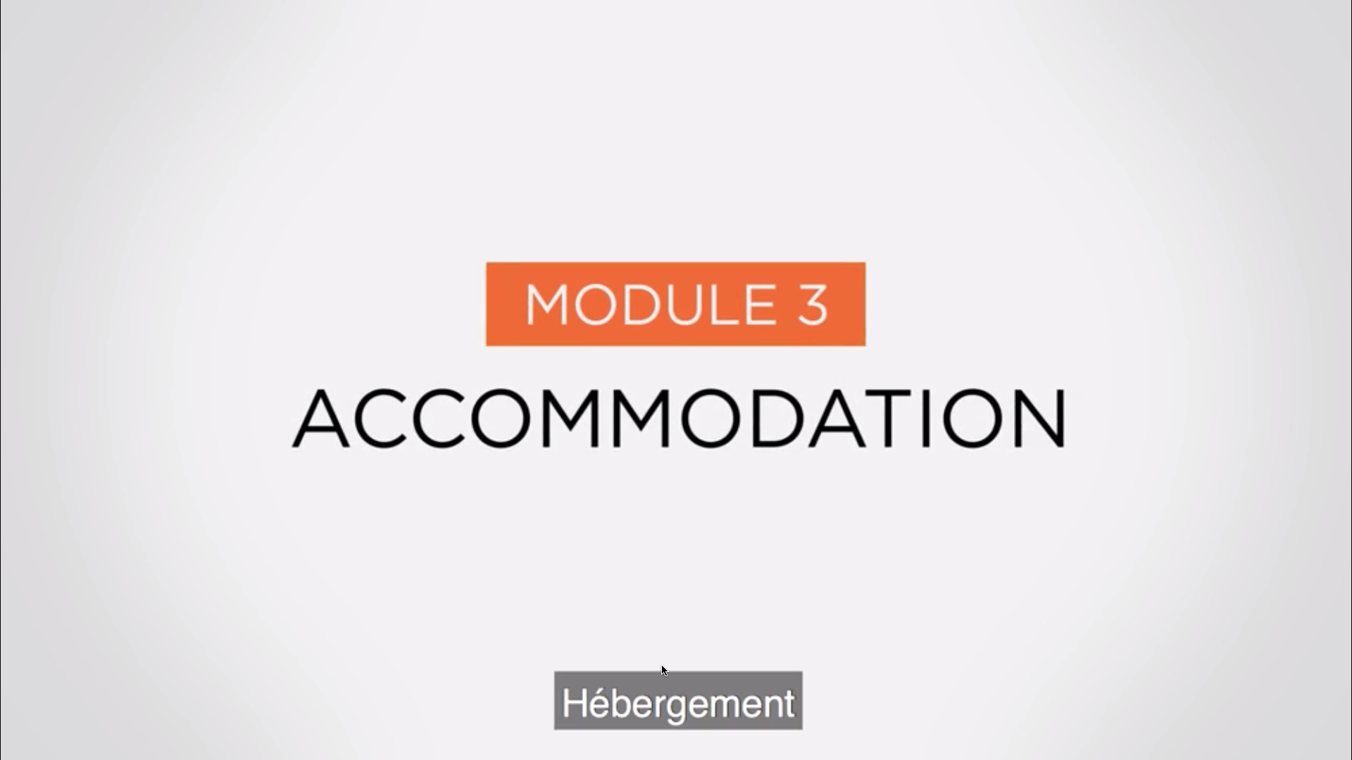 Module 3 - Accomodation