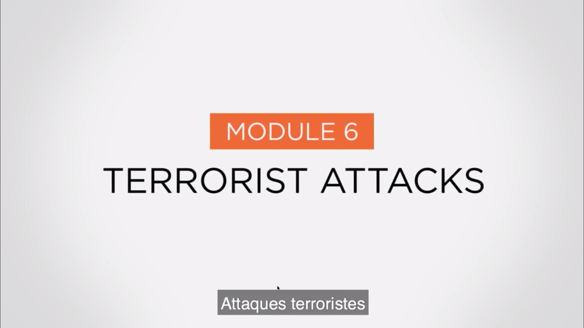 Module 6 - Attaques Terroristes